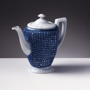Knitted Maria coffeepot by Gijs Bakker