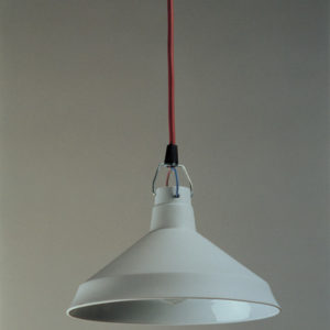 Porcelain lamp by Dick van Hoff