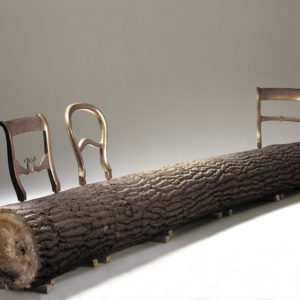 Tree-trunk bench by Jurgen Bey