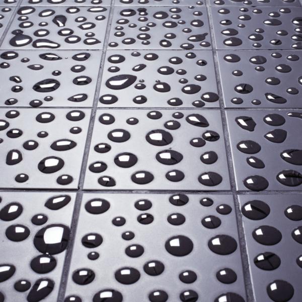 Glass drop floortiles by Arnout Visser