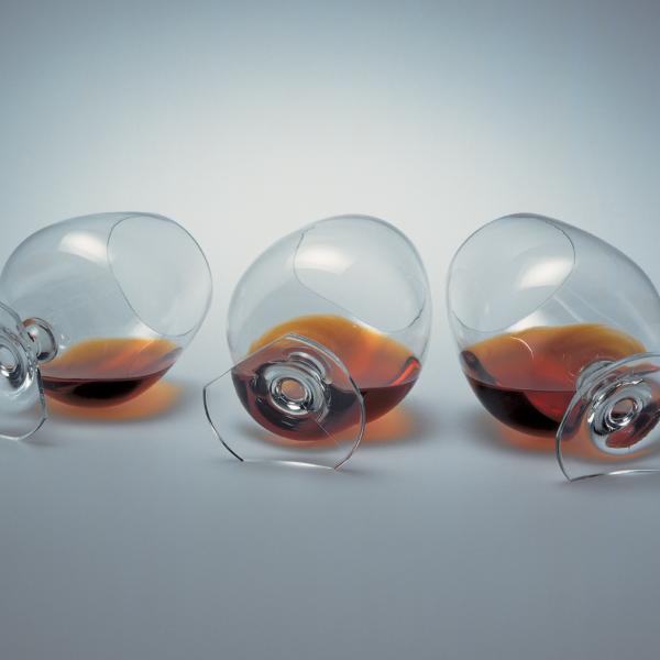 Orange liquor glass by Martí Guixé