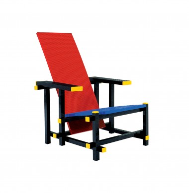 Red blue lego chair | Droog studio work | by Mario Minale