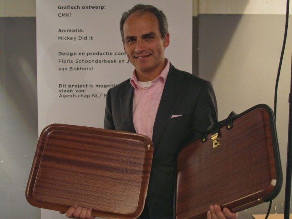 Jean-Pierre Bienfait, CEO of Makro with Briefcase by Studio Droog