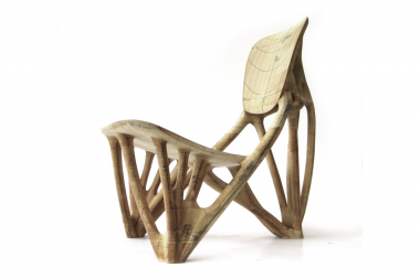 Paper bone chair at Rijksmuseum