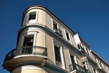 Il Buco Italian restaurant in Athens, Greece, exterior